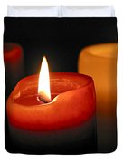 Three Burning Candles Duvet Cover by Elena Elisseeva