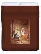 Three Kings Worship Christ Duvet Cover by William Brassey Hole