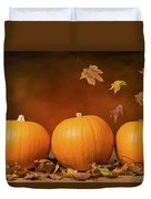 Three Pumpkins Duvet Cover by Amanda And Christopher Elwell