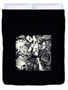 Through The Looking-glass Duvet Cover by Mo T