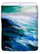 Thunder Tide Duvet Cover by Larry Martin