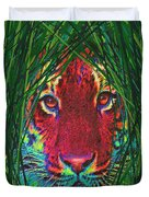 tiger in the grass Duvet Cover by Jane Schnetlage