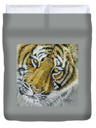 Tiger Painting Duvet Cover by Michelle Wrighton
