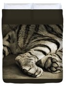 Tiger Paws Duvet Cover by Dan Sproul