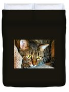 Tiger Time Duvet Cover by Michelle Milano