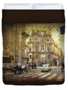 Time Traveling In Palermo - Sicily Duvet Cover by Madeline Ellis