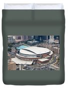 Time Warner Cable Arena Duvet Cover by Bill Cobb