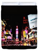 Times Square Duvet Cover by Andrew Paranavitana