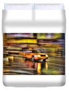 Times Square Taxi I Duvet Cover by Clarence Holmes