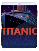 Titanic 100 Years Commemorative Duvet Cover by Leslie Alfred McGrath