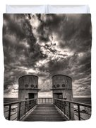 to the bridge Duvet Cover by Ron Shoshani
