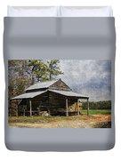 Tobacco Barn In North Carolina Duvet Cover by Benanne Stiens