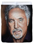Tom Jones The Voice Duvet Cover by Andrew Read