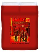 Tombstone Heat Duvet Cover by John Malone