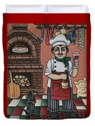 Tommys Italian Kitchen Duvet Cover by Victoria De Almeida