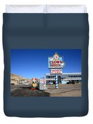 Tonopah Nevada - Clown Motel Duvet Cover by Frank Romeo