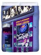 Tootsies Nashville Duvet Cover by Brian Jannsen