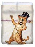 Top Cat Duvet Cover by Louis Wain