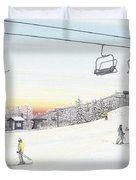 Top Of The Mountain At Seven Springs Duvet Cover by Albert Puskaric