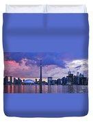 Toronto Skyline Duvet Cover by Elena Elisseeva