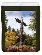 Totem Pole  Duvet Cover by Carol Groenen