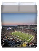 Touchdown New England Patriots  Duvet Cover by Juergen Roth