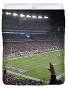 Touchdown Patriots Nation Duvet Cover by Juergen Roth