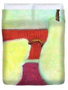 Touching Pears Art Painting Duvet Cover by Blenda Studio