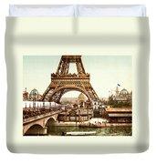 Tour Eiffel And Exposition Universelle Paris Duvet Cover by Georgia Fowler