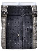 Tower Door Duvet Cover by Heather Applegate