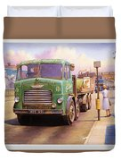 Tower Hill Transport. Duvet Cover by Mike  Jeffries