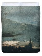 Town at Dusk Duvet Cover by Victor Hugo