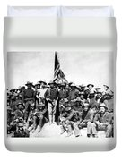 Tr And The Rough Riders Duvet Cover by War Is Hell Store