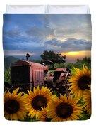 Tractor Heaven Duvet Cover by Debra and Dave Vanderlaan