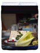 Traditional Sedder Table Duvet Cover by Ilan Rosen