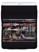 Train - Car - Springs And Things Duvet Cover by Mike Savad