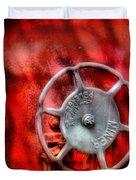 Train - Car - The Wheel Duvet Cover by Mike Savad