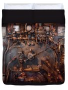 Train - Engine - Hot Under The Collar  Duvet Cover by Mike Savad
