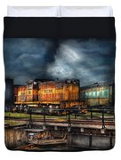 Train - Let's Go For A Spin Duvet Cover by Mike Savad
