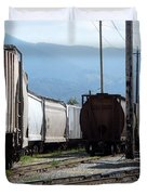 Train Shunting Station Duvet Cover by Nicki Bennett