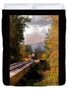 Train Through The Valley Duvet Cover by Robert Frederick