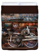 Train - With Age Comes Beauty  Duvet Cover by Mike Savad