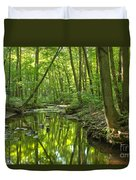 Tranquility In The Forest Duvet Cover by Adam Jewell