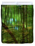 Translucent Forest Reflections Duvet Cover by Adam Jewell