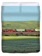 Transportation. Panorama With A Train. Duvet Cover by Ausra Paulauskaite