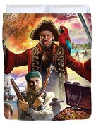 Treasure Island Duvet Cover by Steve Crisp