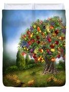 Tree Of Abundance Duvet Cover by Carol Cavalaris
