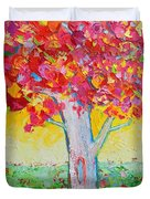 Tree Of Life In Spring Duvet Cover by Ana Maria Edulescu