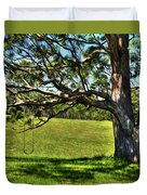 Tree with a Swing Duvet Cover by Kaye Menner
