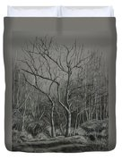Trees Along The Greenway Duvet Cover by Janet Felts
